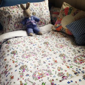 Bunny Linen Cot Duvet Cover And Pillow Case