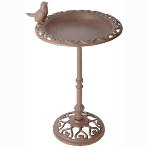 Cast Iron Pedestal Bird Bath And Feeder Table - for small animals & wildlife