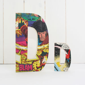 Wooden Comic Book Birthday Decorative Letters