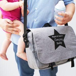 Personalised Men's Baby Changing Bag - first father's day