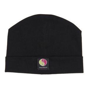 Black Organic Cotton Baby Beanie Hat