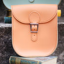 Personalised Medium Leather Satchel