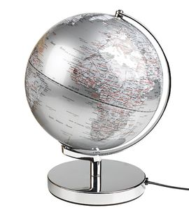 Silver Illuminated Globe Light