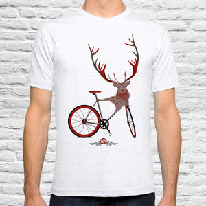 Stag Bicycle T Shirt - t-shirts & vests