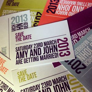 Modern Wedding Save The Date Card