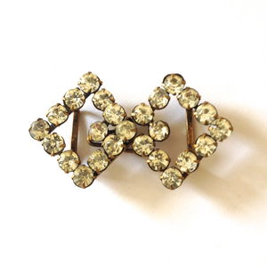 Vintage Art Deco Diamante Belt Buckle - women's sale