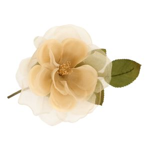 Frances Gold Silk Hair Flower - bridal hairpieces