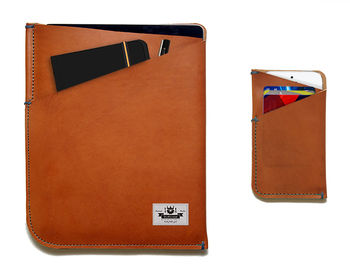iPad Two Retina Leather Sleeve | Free Phone Sleeve