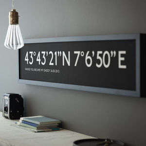 Personalised Bus Blind Coordinates Print - art & pictures