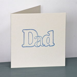 'Dad' Handmade Card