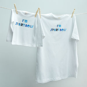 'I'm Spartacus' Dad And Baby Twinset - babies' dad & me sets