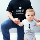 Personalised 'Rock Star Daddy' Bodysuit Set