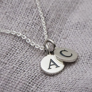 Dani Sterling Silver Double Charm Necklace - jewellery sale