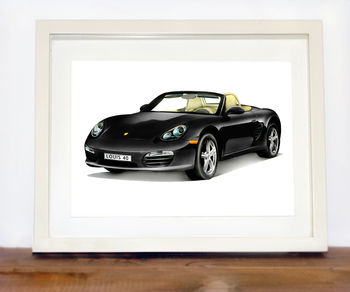 Personalised Porsche 911 Car Print