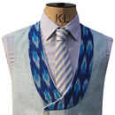 Duck Egg Blue Contrasting Waistcoat