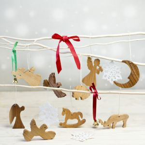 Assorted Natural Christmas Decorations - tree decorations