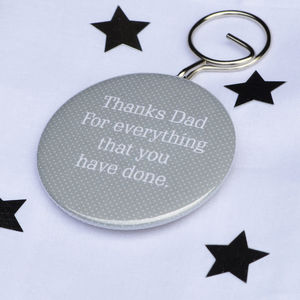 Personalised 'Thanks Dad' Bottle Opener Keyring - keyrings