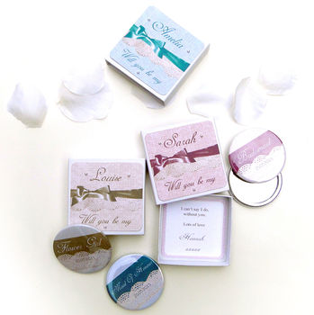 'Will You Be My Bridesmaid' Mirror And Gift Box