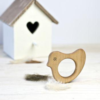 Organic Wooden Bird Teether