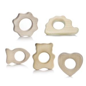 Organic Wooden Teething Ring - baby care