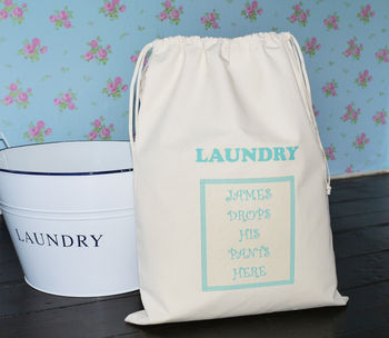 Personalised 'Man's' Laundry Bag