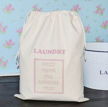 Personalised 'Ladies' Laundry Bag
