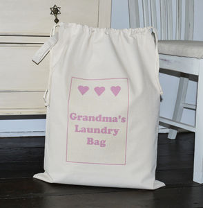 Personalised 'Laundry' Bag - laundry bags & baskets