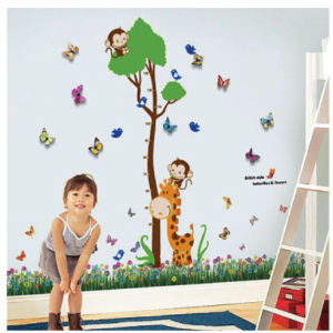 Monkey Height Chart Wall Sticker