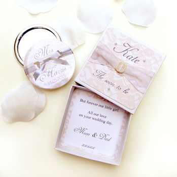 Bride To Be Engagement Mirror And Gift Box