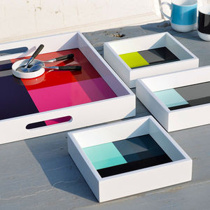 Colour Block Nesting Tray Set