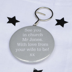 Personalised 'See You In Church' Bottle Opener Keyring