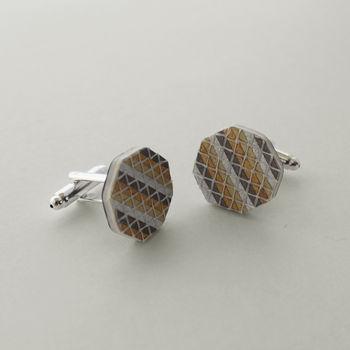 Stripe Cufflinks
