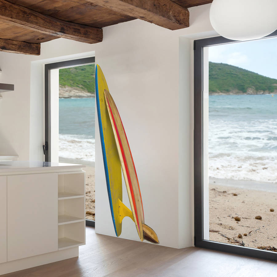 Double surfboard corner wall sticker by oakdene designs double surfboard corner wall sticker amipublicfo Gallery