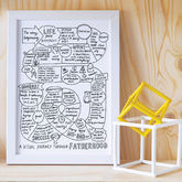 'A Visual Journey Through Fatherhood' Print - father's day