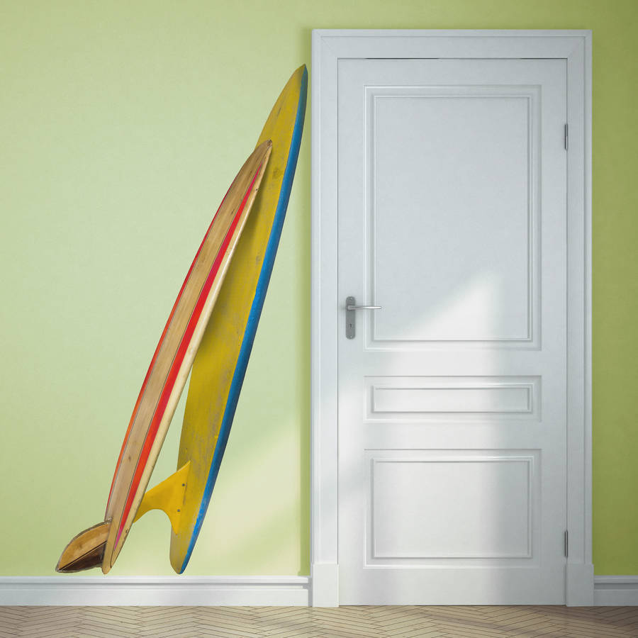 Double surfboard corner wall sticker by oakdene designs double surfboard corner wall sticker amipublicfo Image collections