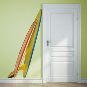 Double Surfboard Corner Wall Sticker - bedroom