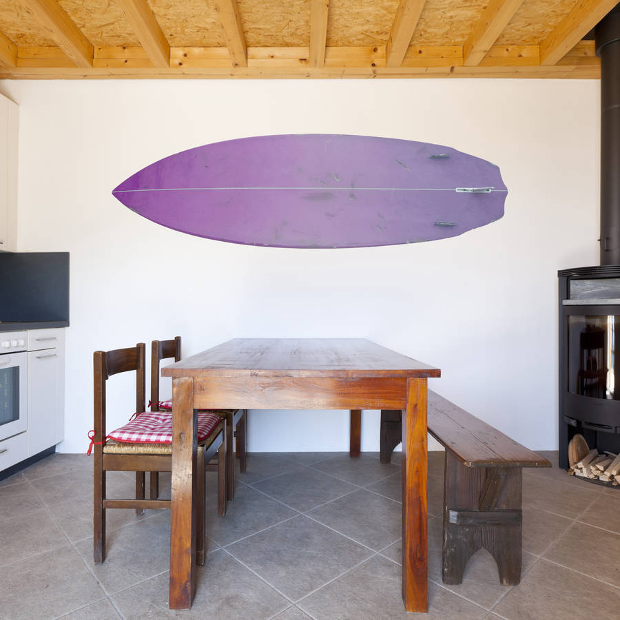 Single surfboard wall sticker by oakdene designs single surfboard wall sticker amipublicfo Gallery
