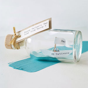 Personalised Handmade Paper Ship In A Bottle - gifts for him