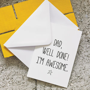 'Well Done' Father's Day Card - gifts under £15