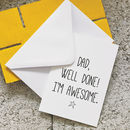 'Well Done' Father's Day Card