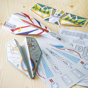 Personalised Paper Planes Kit - gifts from younger children