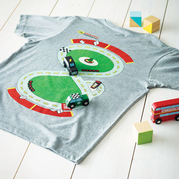 Gift For Dad Race Track Play Mat T Shirt