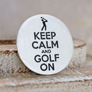 Keep Calm Silver Golf Ball Marker