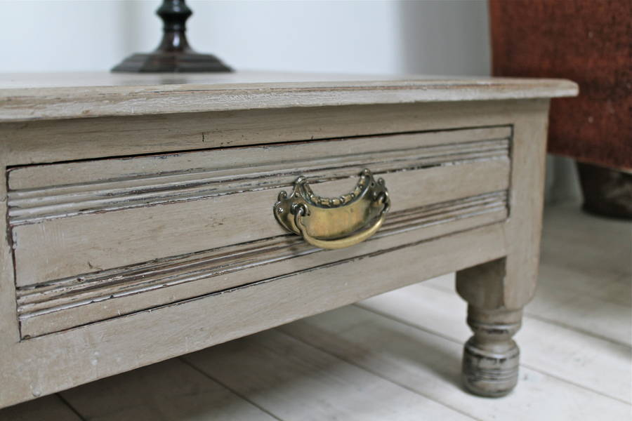 Distressed Painted Coffee Table By Distressed But Not Forsaken