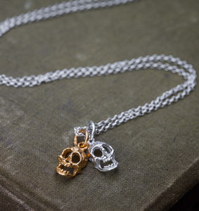 Double Skull Necklace - jewellery & accessories