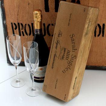 Personalised Birthday Wine Bottle Box