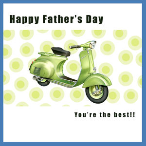 Scooter Father's Day Card