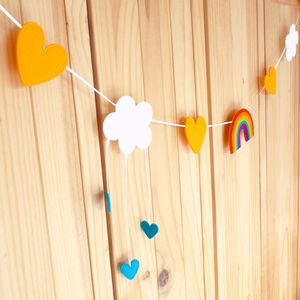 How To Make A Rainbow Felt Weather Bunting - room decorations