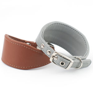 Nappa Leather Italian Greyhound Collar - dog collars