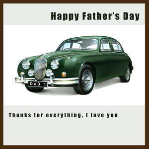 Jaguar Mk2 Father's Day Card